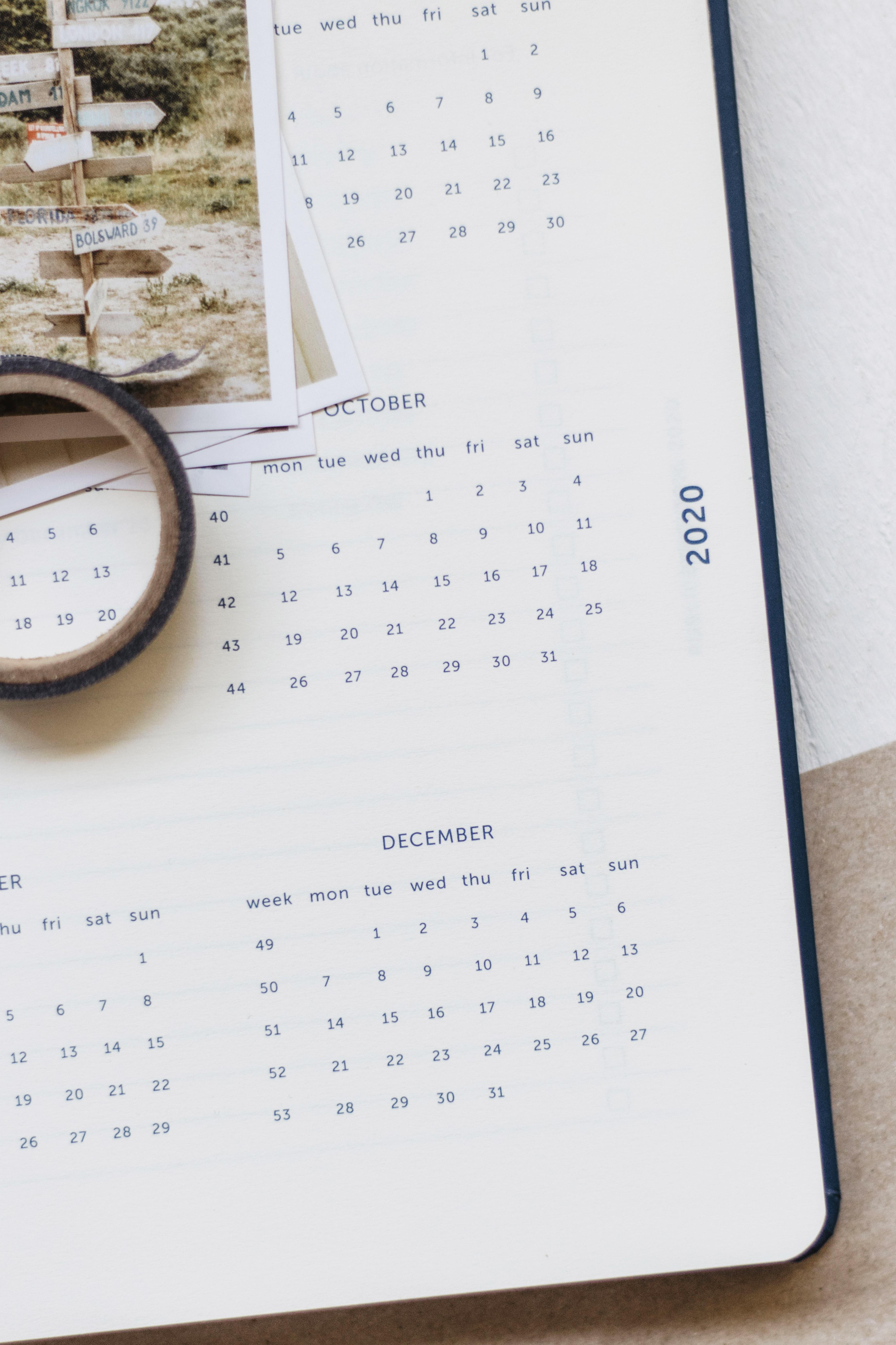 a journal agenda 2020
